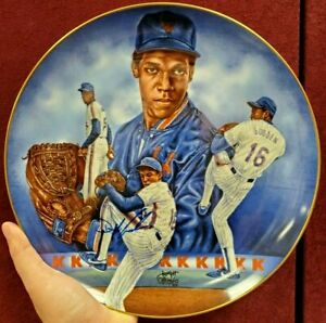 """Dwight """"Doc"""" Gooden Hand Signed 10"""" Rare Dr.K Collector's Plate #1148/3000"""