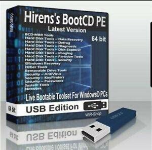 Hiren's Boot CD USB WinPE PC Utilities Repair Tools Suite 2021 latest version