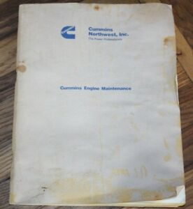 Cummins Northwest, Inc The Power Professionals Engine Maintenance Manual Book 85