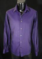 Versace Casual Shirt 15.75-34 S Classy Purple