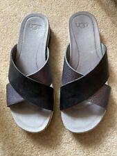 Ugg Black & Grey Sandals Size UK 5.5
