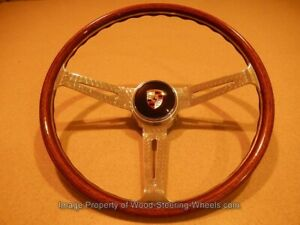 For Porsche 904 GT - 356 B C  Wood Steering Wheel Les Leston 1960 VDM Orig. NOS