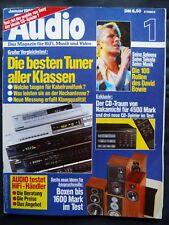 AUDIO 1/85 REVOX B 261,ONKYO T 9900,KENWOOD KT 1000,BASIC T 2,JVC T X900L,T X200