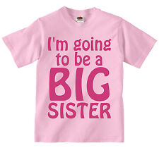 I'm Going To Be A Big Sister T-Shirt. Baby Announcement. Baby Shower. B-Shirts.