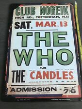 The Who Concert Tin Sign