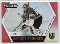 2017-18 Upper Deck Synergy Marc-Andre Fleury Impact Players Red SP /56 (BN)