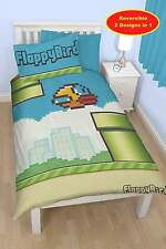 FLAPPY BIRDS PIPES SINGLE DUVET REVERSIBLE QUILT COVER BEDDING SET KIDS BEDROOM