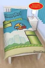 FLAPPY BIRDS PIPES SINGLE DUVET REVERSIBLE QUILT COVER BEDDING SET KIDS BEDROOM