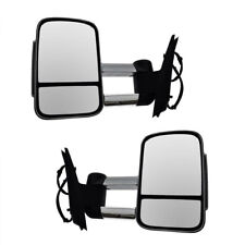Towing Mirrors Fits Mazda BT-50 2012-On Smoked With Turn Signals Non-Heated