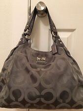 COACH 14324 Gray / Silver Op Art Maggie Shoulder Bag Handbag Satchel Tote Purse