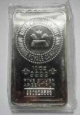 10 Oz. RCM .9999 Fine Silver Bar