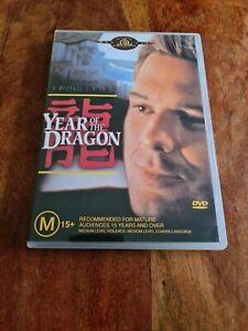 YEAR OF THE DRAGON DVD Region 4 Australia MICKEY ROURKE oop