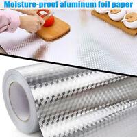Aluminum Foil Self Adhesive Waterproof Oil-proof Wallpaper Kitchen Wall Sticker