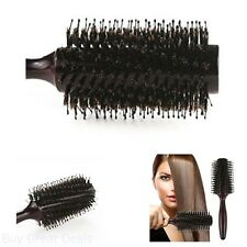 Professional Hair Brush Natural Boar Bristles Round Comb Beauty Salon Styling
