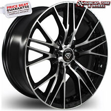White Diamond 3299 18x8 Black Machined Custom Wheels Rims (x 4) FREE SHIPPING