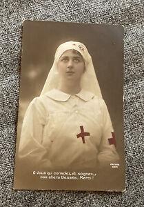 WW1 Photograph Postcard  Red Cross Nurse