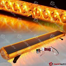 48 inch 88 LED Amber Yellow Emergency Warning Truck Strobe Tow Light Bar Roof