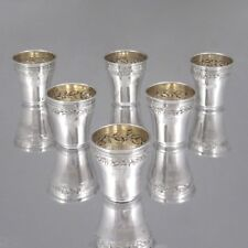 1910-1934 French Sterling Silver Liquor Cordial Cups, Olier & Caron, Hallmark