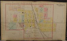 Iowa Cedar County Map West Branch 1901 Dbl Side/Pg  L11#45