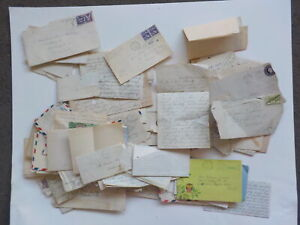 120 Old Letters 1800s-70s Correspondence Lot Collection Papers Covers Stamps VTG