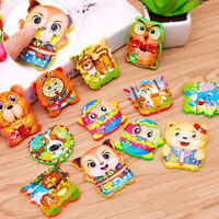 2x Plastic Building kids educational toy cartoon animal jigsaw puzzle game t NT