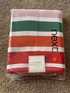 Next Baby Rainbow Knitted Blanket Striped Pram Bedding Nursery like Little Bird