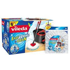 Vileda Easy Wring and Clean Microfibre Mop/Bucket with Power Spin Wringer and...