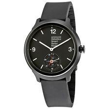 Mondaine Helvetica No 1 Bold Smart Black Dial Black Rubber Mens Watch MH1B2S20RB