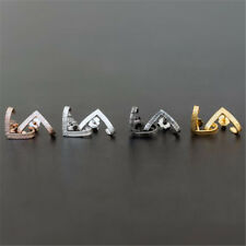 1Pair Women Statement Gold Silver Triangle Geometric Metal Ear Stud Earrings