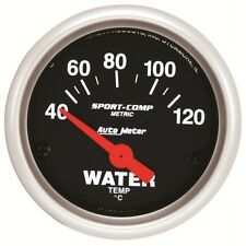 "Auto Meter 3337-M 2-1/16"" Water Temperature Gauge Air-Core Sport-Comp"