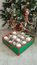 New Christmas Tree Bauble/Decorations Storage Box Holds 16 Baubles Zip Fastening