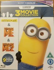 Minions Collection 3 Movie Box Set New Sealed Blu-Ray Region Free