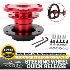 Red Universal Car Steering Wheel Quick Release HUB Racing Adapter Snap Off Boss