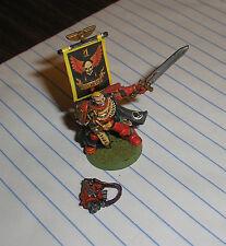 40k Rare oop vintage Metal Space Marine Blood Angels Painted Veteran Captain #5
