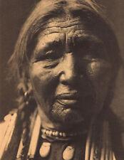 "EDWARD CURTIS Indian Tribe ""OGALALA WOMAN"" Vintage Native American Photo Print"