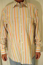 ZEGNA SPORT multi colored striped 100 % cotton shirt size.M