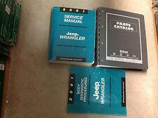 2001 JEEP WRANGLER Service Shop Repair Manual Set W Parts Catalog Manual Book