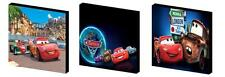 CARS 2 - LIGHTENING MCQUEEN CANVAS ART BLOCKS/ WALL ART PLAQUES/PICTURES