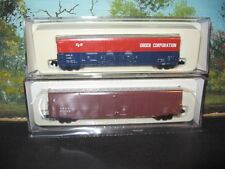 ATLAS  N SCALE #36801 &  #31101 BOX CARS CANADIAN PACIFIC & ODGEN *