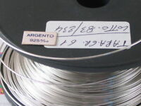 50 CM. DI FILO IN ARGENTO 925 ITALY CRUDO (DURO) DIAMETRO 0,5 MM.