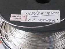 50 CM. DI FILO IN ARGENTO 925 ITALY CRUDO (DURO) DIAMETRO 0,5 MM.