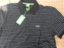 NEW HUGO BOSS MENS BLACK STRIPED COTTON JEANS GOLF BAG PRO POLO SUIT T-SHIRT XL