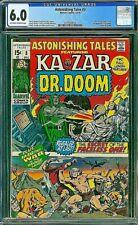ASTONISHING TALES 3 CGC 6.0 Ka-Zar Dr. Doom Severin Esposito Jungle Comics 1970