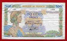 (Ref: J.829)  500 FRANCS (LA PAIX) 25/07/1940 (SUP)
