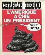 """""""CHARLIE HEBDO N°312 du 4/11/1976"""" Gébé : L'AMERIQUE A CHIE UN PRESIDENT"""