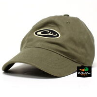 DRAKE WATERFOWL SIX PANEL UNFORMED OVAL LOGO COTTON HAT BALL CAP LODEN OLIVE