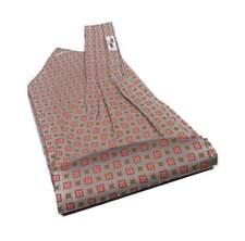 nuovo ASCOT seta uomo foulard collo grigio beige rosso disegno a fiorellini neW