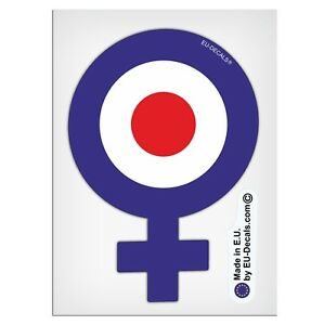 126mm-5'' Female Symbol Blue target Laminated Decals Stickers for Vespa GTS GTV