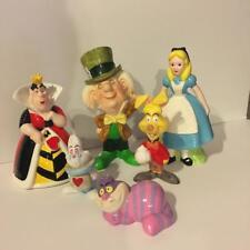 Disney Alice in Wonderland Figurines Alice Queen Rabbit Hatter Cat & Hare