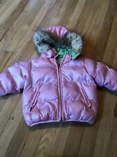 The Children's Place Pink Shiny Puffer Faux Fur Coat 18 Months